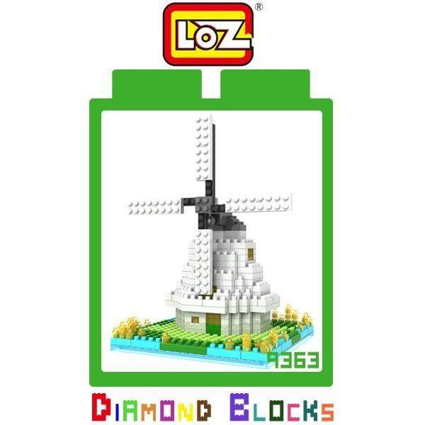 正版 LOZ 迷你鑽石小積木 荷蘭風車 建築系列 益智玩具 樂高式 平價趣味 腦力激盪