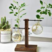 創意綠蘿水培植物玻璃花瓶花盆小清新客廳辦公室桌面擺件植物容器wy