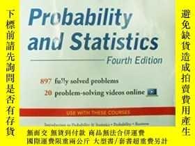 二手書博民逛書店Schaum s罕見Outline Of Probability And Statistics, 4th Edit