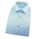 【南紡購物中心】【襯衫工房】長袖襯衫-明亮藍白色細條紋