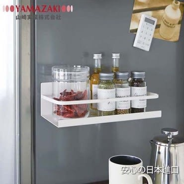 【YAMAZAKI】Plate-磁吸式瓶罐置物架