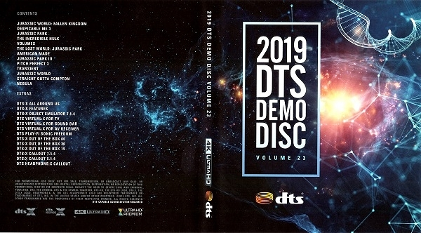 【停看聽音響唱片】【BD】2019 DTS Demo Disc Vol.23『4K』