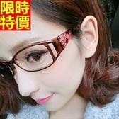 眼鏡架-時尚精美花朵鏡腿男女鏡框2色67ac21【巴黎精品】