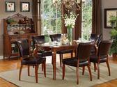 美式輕奢全實木餐桌椅組合簡約吃飯椅子電腦寫字椅仿古皮椅xw 全館免運