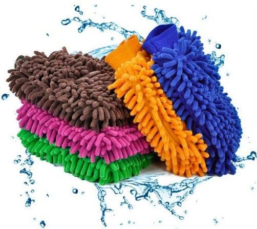 雪尼爾 雙面除塵手套 擦車手套 懶人清潔手套 乾濕兩用
