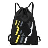 束口袋抽繩雙肩背包男女戶外運動簡易折疊健身收納包足球包游泳包 小宅女