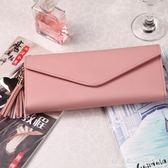 女士手拿錢包女式卡包新款日韓流蘇吊墜小清新多功能學生錢夾     科炫數位