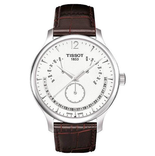 TISSOT天梭錶TRADITION逆跳萬年曆石英腕錶(T0636371603700)原廠公司貨