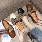 豆豆鞋奶奶鞋女韓版平底復古社會秋季新款仙女豆豆鞋晚晚溫柔風單鞋 夢想生活家