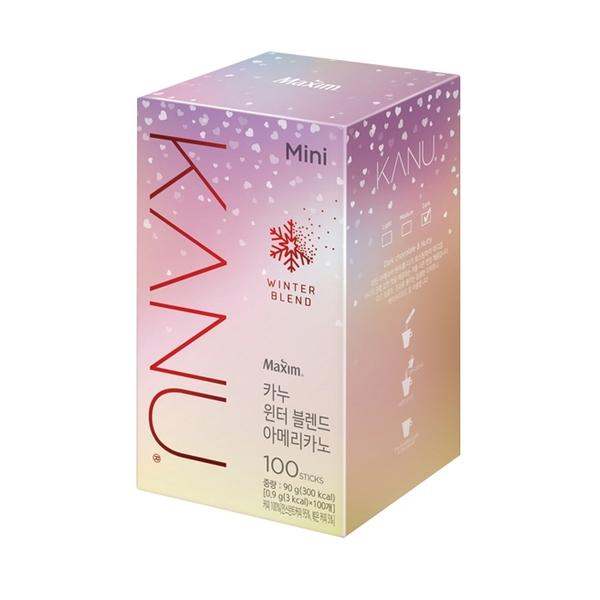 韓國 MAXIM麥心 KANU 美式深焙咖啡-亮粉盒 (0.9g×100入/盒) 孔劉咖啡 美式咖啡 黑咖啡