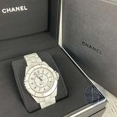 BRAND楓月 CHANEL 香奈兒 H5700 白陶瓷 黑字 白色 經典 J12 手錶 自動錶