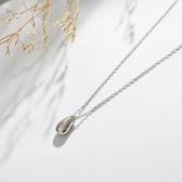 項鍊:925純銀水滴項鍊女  【新飾界】