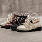娃娃鞋 洛麗塔梅露露lolita鞋基礎款原創夏可愛中跟學生日繫小皮鞋女森女 - 紓困振興~~全館免運