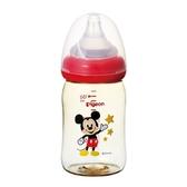 貝親 Pigeon 寬口母乳實感PPSU奶瓶160ml-經典迪士尼(米奇)P78040R〔衛立兒生活館〕