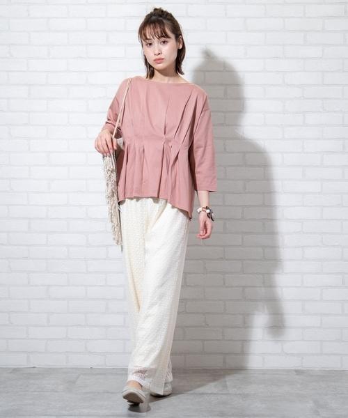 蕾絲 休閒長褲 女褲日本品牌【coen】