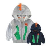 鱷魚吃小魚立體造型連帽長袖外套 童裝 秋冬外套