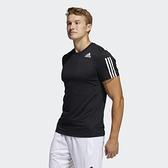 Adidas AERO3S TEE PB 男款黑色運動短袖上衣-NO.GQ2159