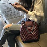 包包水桶包女2019新款潮韓版質感手提百搭包包大容量單肩包斜背包大包