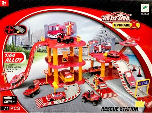 Six Six Zero UPGRADE 消防停車場 需簡易組裝 71PCS TOYeGO 玩具e哥