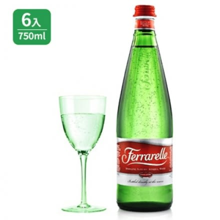 【超值特惠】法拉蕊氣泡礦泉水(6瓶)750ml