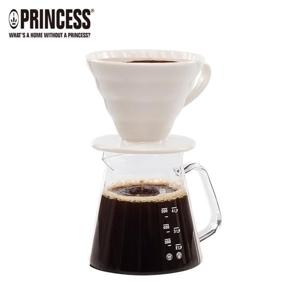 PRINCESS荷蘭公主手沖陶瓷單孔螺旋濾杯+咖啡壺組241100E