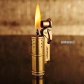 復古老式戰壕純黃銅煤油打火機創意點火個性經典懷舊防風