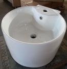 【麗室衛浴】C-398-W 小空間圓形掛盆  40CM