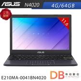 ASUS E210MA-0041BN4020 11.6吋 N4020 HD 平價 夢想藍 筆電(6期0利率)-送無線滑鼠