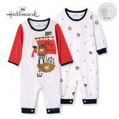 Hallmark Babies 竹系列冒險海盜貓春夏男嬰長袖連身衣套包組(兩件裝) HH1-B74-06-BB-PO