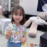 兒童短袖T恤卡通印花韓版打底衫純棉上衣可愛【淘夢屋】