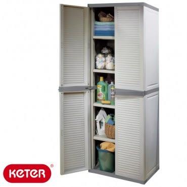 KETER 新型塑鋼五層櫃 Utility Louvre Cabinet塑鋼材質 耐