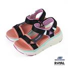 Skechers Max Cushioning 粉橘色 尼龍 高5CM 涼鞋 女款 NO.J0407【新竹皇家 140125BKMT】