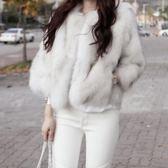 皮草 外套狐貍毛仿毛毛短款保暖毛絨大衣 巴黎春天
