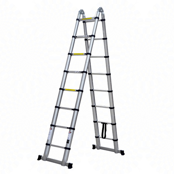 多功能全鋁合金伸縮萬用A字折疊工作梯5.6m