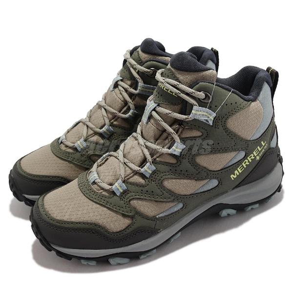 Merrell 戶外鞋 West Rim Sport Mid GTX 橄欖綠 女鞋 高筒 登山鞋 【ACS】 ML036558