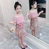 聖誕禮物女童洋裝女童夏裝新款童裝兒童洋氣裙子夏季女孩雪紡洋裝夏潮衣 嬡孕哺