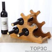 歐式實木紅酒架擺件創意葡萄酒架楠竹展示架家用酒瓶架客廳酒架子「Top3c」