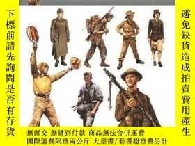 二手書博民逛書店二戰軍服百科罕見英文原版 Uniforms of World W