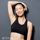 【ACTIONLINE】100%純棉運動內衣(黑)