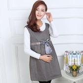 孕程防輻射馬甲孕婦防輻射服孕婦裝裝四上衣外穿 薔薇時尚
