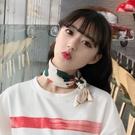 小方巾絲巾女韓國領巾百搭圍巾chic發帶裝飾文藝復古 黛尼時尚精品