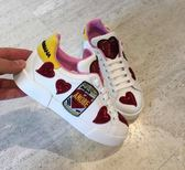 ■2018新品 ■專櫃65折 Dolce & Gabbana  全新真品 Amore 普普罐頭圖騰亮片拼接球鞋 IT 35/39