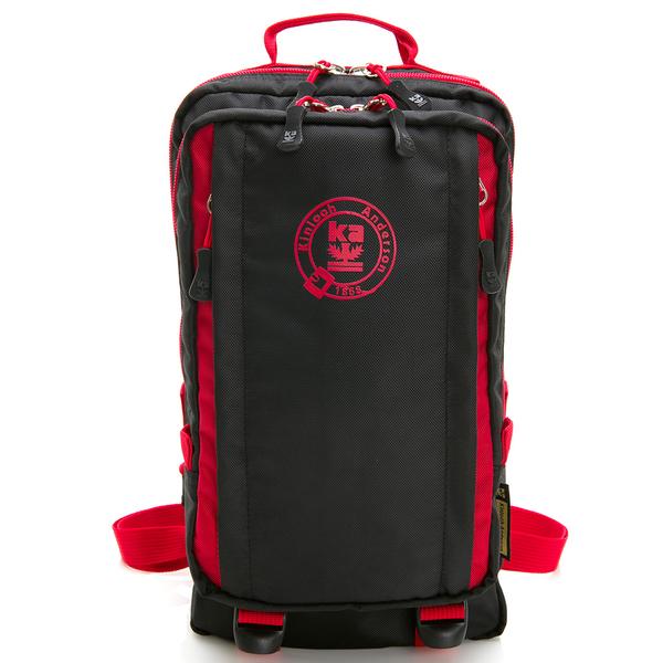金安德森 極限機能 3Way防潑水多層收納正方後背包-黑紅