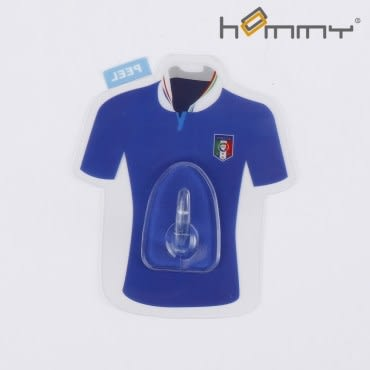 HOMMY黏貼式掛勾-藍色足球衣(單入)