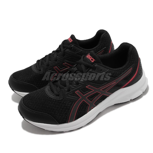 Asics 慢跑鞋 Jolt 3 4E 超寬楦 黑 紅 入門款 路跑 亞瑟士 男鞋 【ACS】 1011B041006