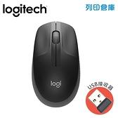 Logitech羅技 M190無線滑鼠-黑(USB接收器)