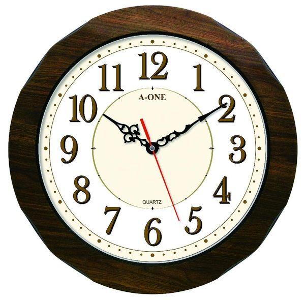 歐風古典木紋掛鐘