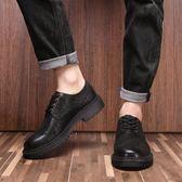 男靴子 馬丁靴 真皮男透氣休閒皮鞋韓版工裝男鞋復古英倫工裝男短靴《印象精品》q1232