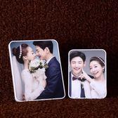 定制  韓式婚紗照放大擺台定制結婚照桌擺8寸10寸12寸無邊框客廳擺件【美物居家館】