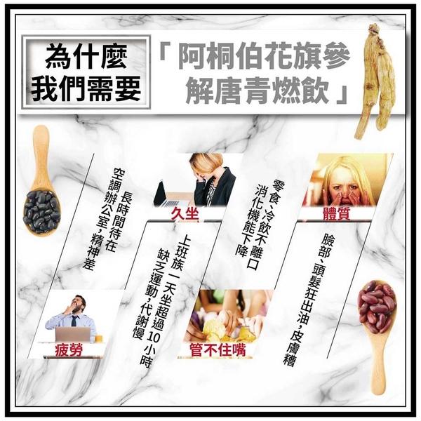 阿桐伯花旗參解唐青燃飲三盒組(60包)